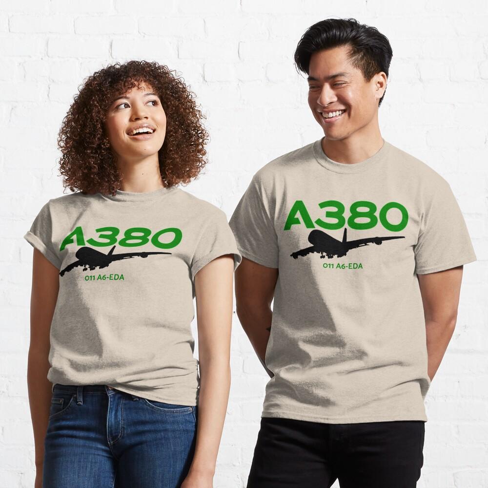 Airbus A380 011 A6-EDA (Black)  Classic T-Shirt