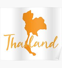 Thailand map fancy Poster
