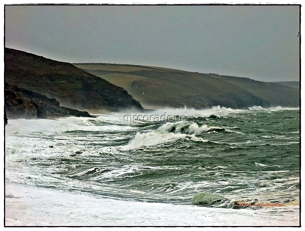 """ Two hours before high tide & it's rushing towards the shore"" by Malcolm Chant"