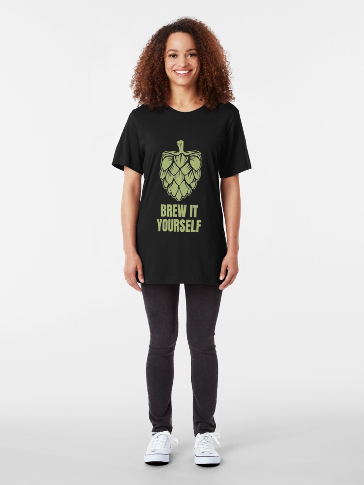 Alternative Ansicht von Brew It Yourself - Craft Beer Slim Fit T-Shirt