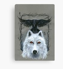 Ghost And The Three-Eyed Raven Canvas Print