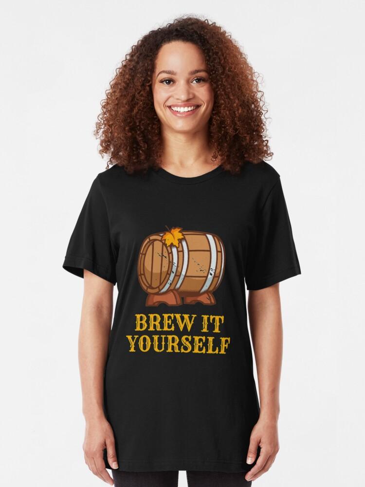 Alternative Ansicht von Brew It Yourself - Craft Beer Slim Fit T-Shirt