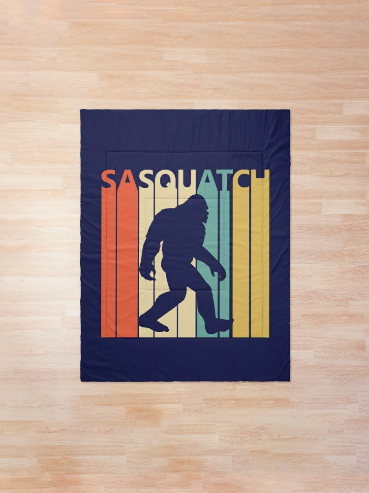 Alternate view of Vintage Retro Bigfoot Sasquatch Comforter