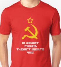 In Soviet Russia T-shirt wears you Unisex T-Shirt
