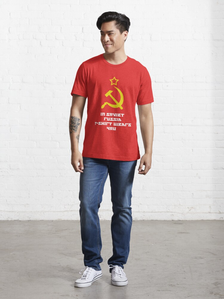 Alternate view of In Soviet Russia T-shirt wears you Essential T-Shirt