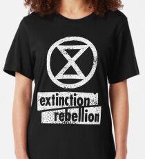 Extinction Rebellion (distressed design) Slim Fit T-Shirt