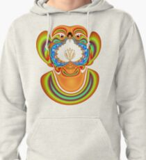 Bald Ugly Faced Fractal Pullover Hoodie