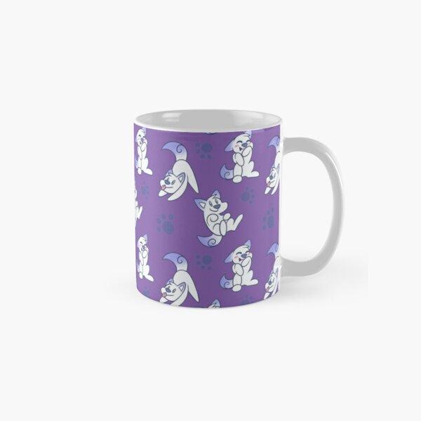 Scribble Kibble Puppy Pattern - Purple Classic Mug