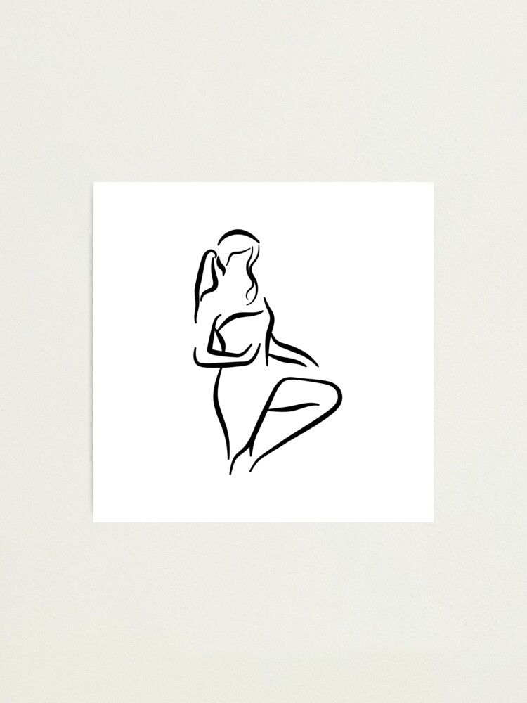 Alternate view of Classy Lady Minimalist Line Drawing Photographic Print