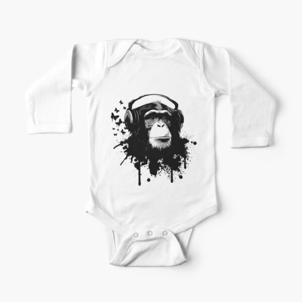 Monkey Business Long Sleeve Baby One-Piece