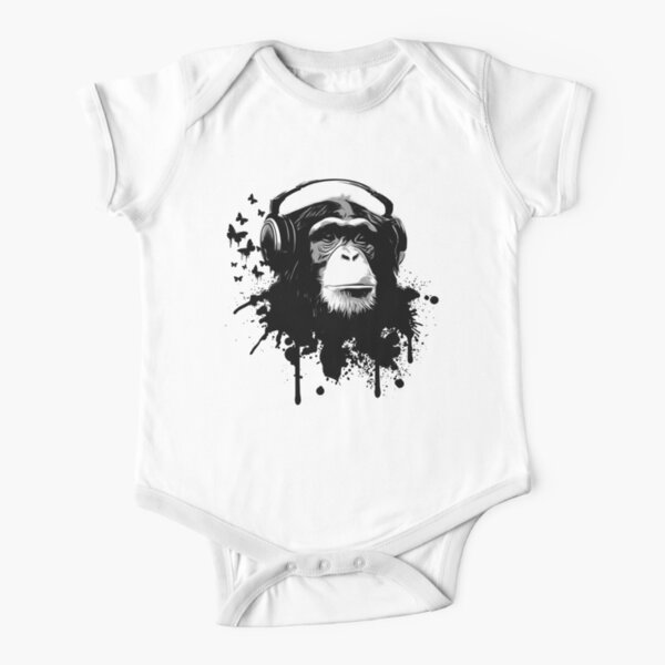 Monkey Business Short Sleeve Baby One-Piece