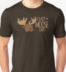 Crazy Moose Lady T-Shirt