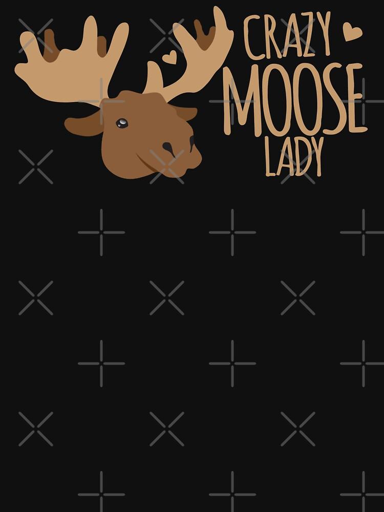 Crazy Moose Lady by jazzydevil