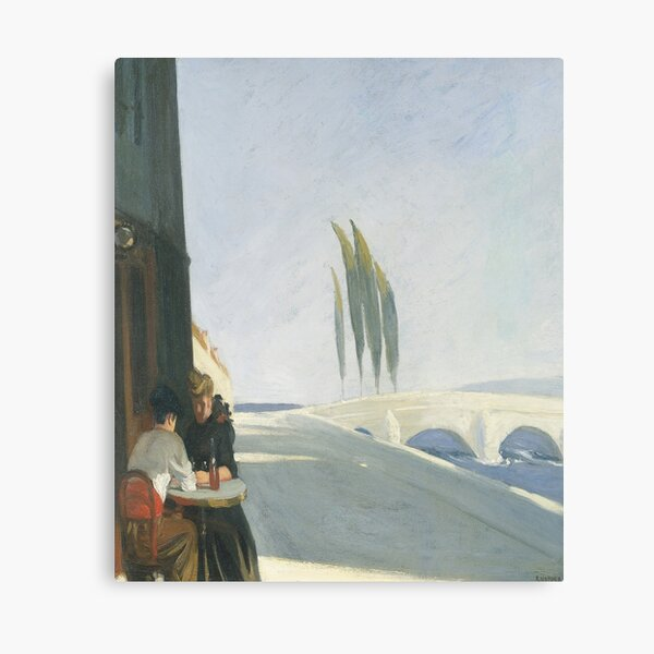 Bistro-Edward Hopper Impression sur toile