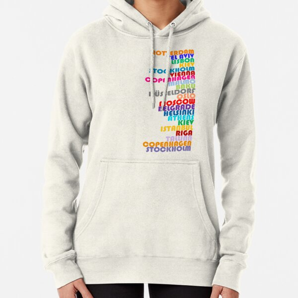 NEW! Eurovision Host Cities 2020 Pullover Hoodie