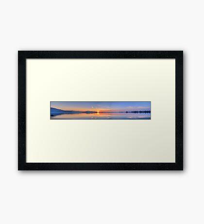 HDR Panoramic - Lake Zug, Switzerland Framed Print