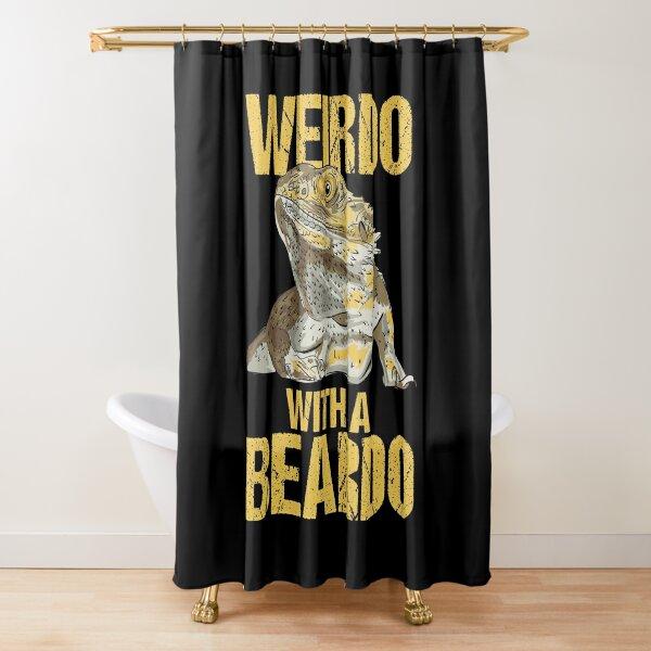 Weirdo With A Beard Bearded Dragon Shower Curtain