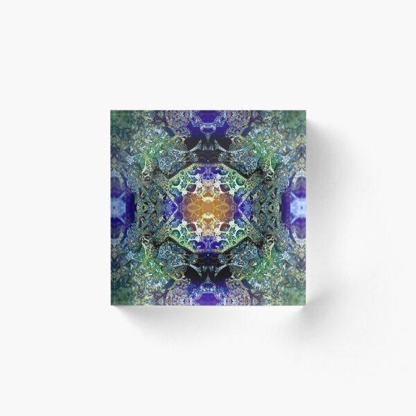 Mandala der Zufriedenheit Acrylblock