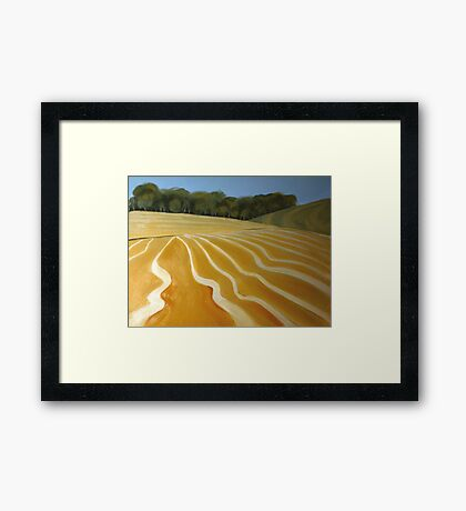 Patterns of the plow Framed Print