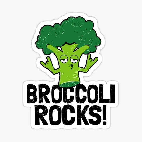 Funny Vegan Gifts - Broccoli Rocks! Sticker