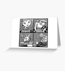 Wonderland Miniatures (Panel 2) Greeting Card