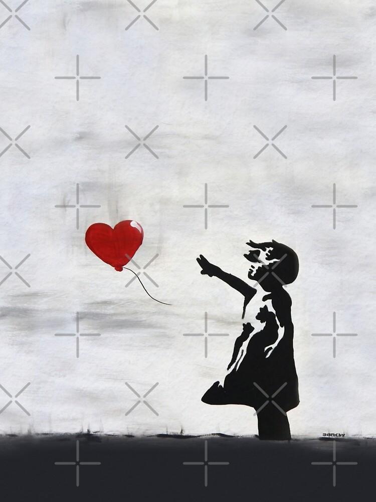 Banksy Girl with heart balloon graffiti ORIGINAL WALL street art HD HIGH QUALITY ONLINE STORE by iresist