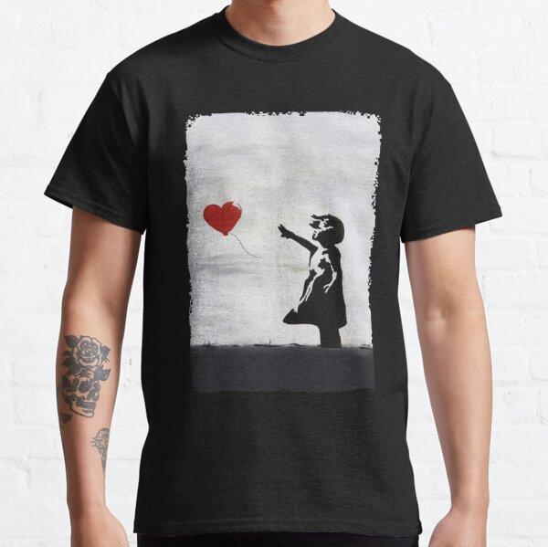 Banksy Girl with heart balloon graffiti ORIGINAL WALL street art HD HIGH QUALITY ONLINE STORE Classic T-Shirt