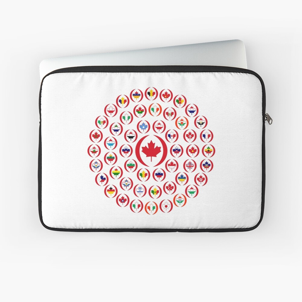 We Are Canada Multinational Patriot Collective  Laptop Sleeve