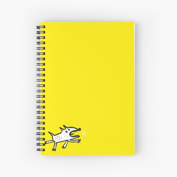 Angry Dog in Yellow Spiral Notebook