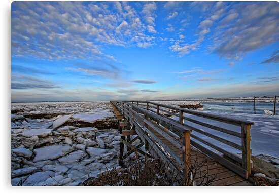 Across The Ice & Toward The Horizon - Yarmouthport, MA by T.J. Martin