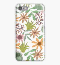 floral pattern exotik flowers iPhone Case/Skin