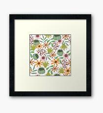 floral pattern exotik flowers Framed Print