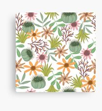 floral pattern exotik flowers Canvas Print