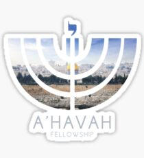 A'HAVAH FELLOWSHIP LOGO (Jerusalem edition) Sticker