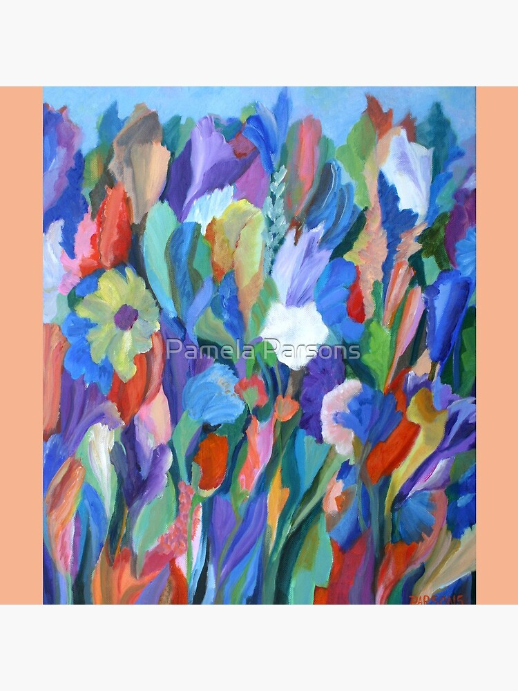 Dance of the Flowers. From an original acrylic painting by Pamela Parsons. by parsonsp