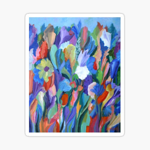 Dance of the Flowers. From an original acrylic painting by Pamela Parsons. Sticker