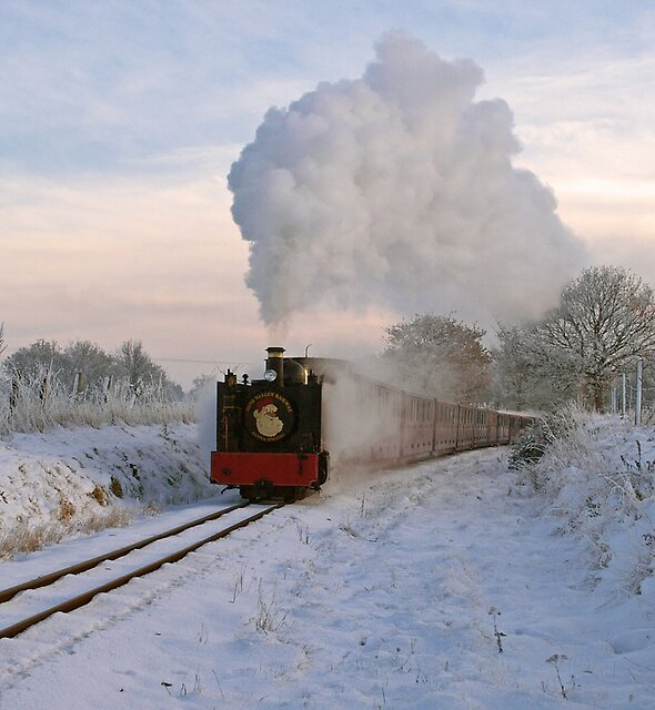 Steaming in a Winter Wonderland by Gerry  Balding