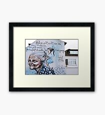 Respect and affection Framed Print