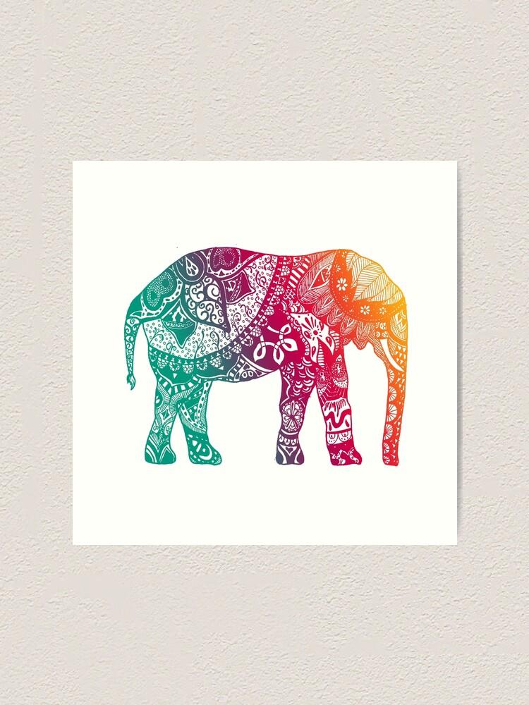 Alternate view of Warm Elephant Art Print
