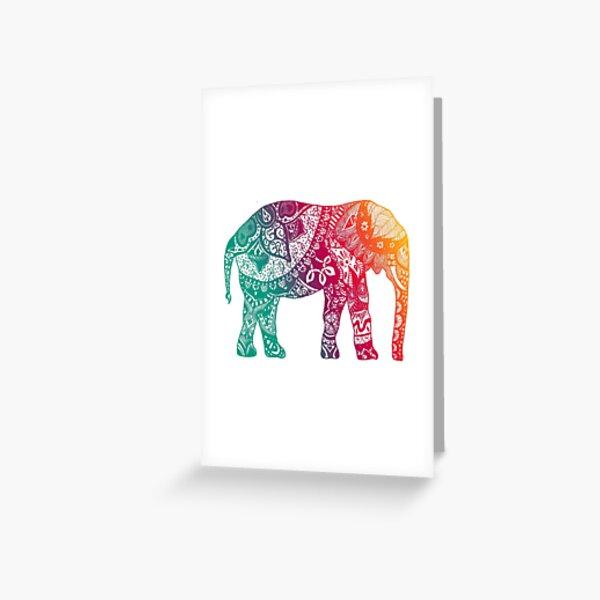 Warm Elephant Greeting Card