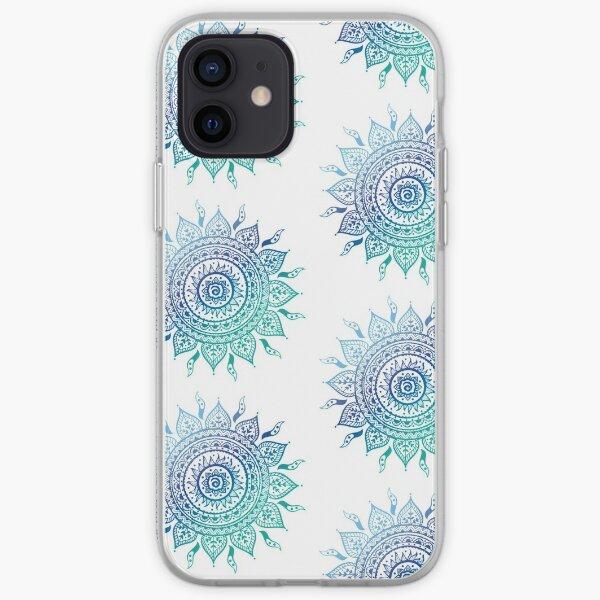 Blue Gradient Mandala  iPhone Soft Case