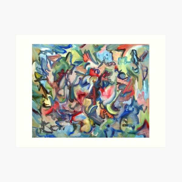 Grow. An abstract expressionist oil painting by Pamela Parsons Art Print