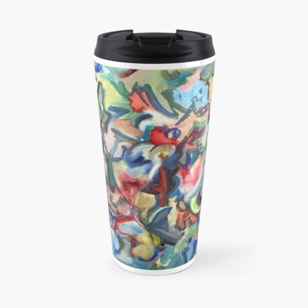 Grow. An abstract expressionist oil painting by Pamela Parsons Travel Mug