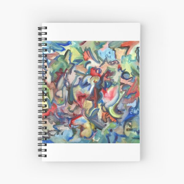 Grow. An abstract expressionist oil painting by Pamela Parsons Spiral Notebook