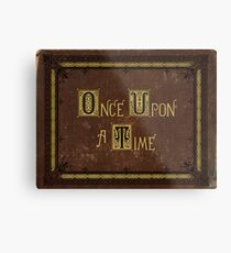 Once Upon A Time Book Metal Print