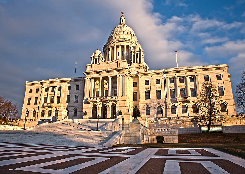 Rhode Island State House - South Facade by Stephen Cross Photography