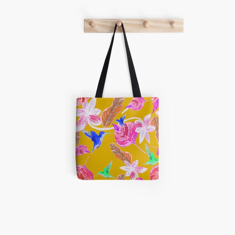 Kolibri und botanic Stofftasche