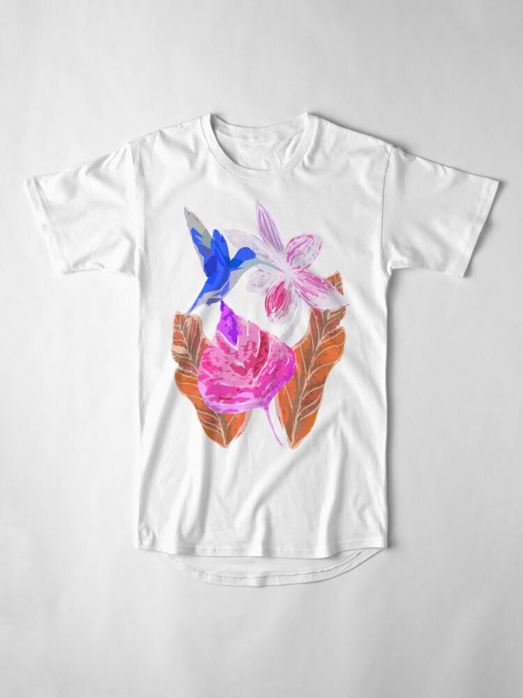 Alternative Ansicht von Kolibri und botanic Longshirt