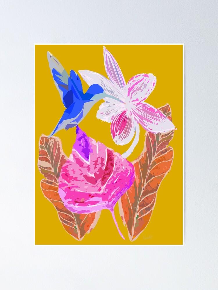Alternative Ansicht von Kolibri und botanic Poster
