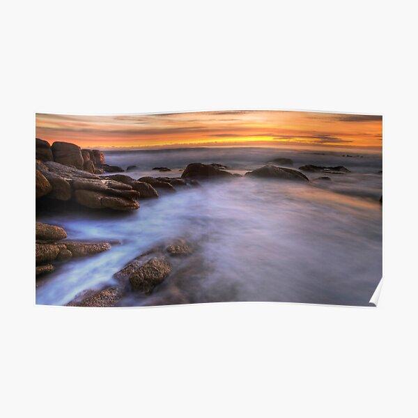 Sunrise at The Friendly Beaches, Tasmania Poster